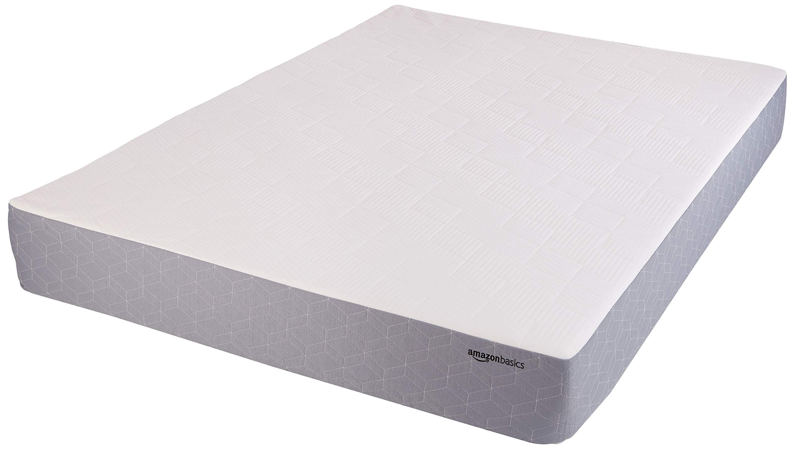 AmazonBasics Cooling Gel-Infused Memory Foam Mattress - Medium Firmness, CertiPUR-US Certified - 10 Inch, Twin