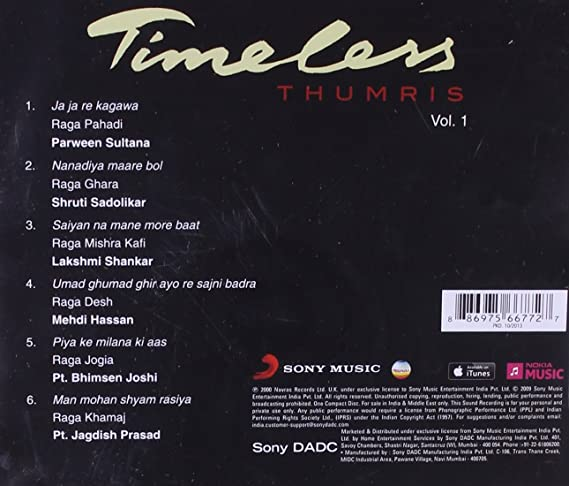 Buy Timeless Thumris - Vol 1 Online at Low Prices in India