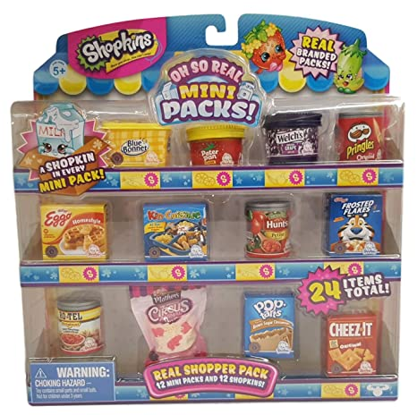 Amazoncom Shopkins Oh So Real National Brands Real Shopper Pack