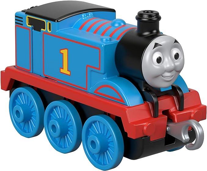 Thomas /& Friends FXW99 Trackmaster Thomas Locomotora Metal a lo largo de empuje,