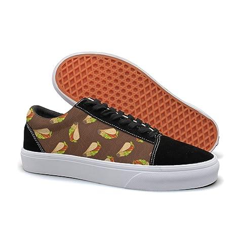 ca2a7e948788 Amazon.com  Mexican Taco Women Low Top Skateboarding Shoes  Sports ...