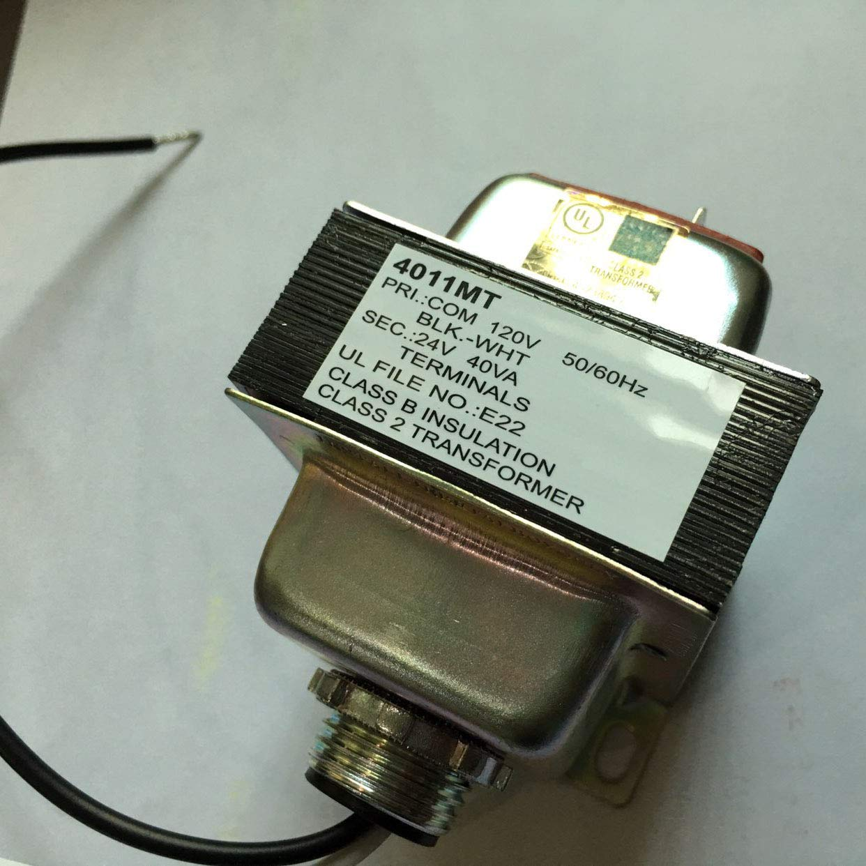 UHPPOTE 24V 40VA Thermostat Doorbell Transformer 120VAC Input 24VAC Output with UL-Listed