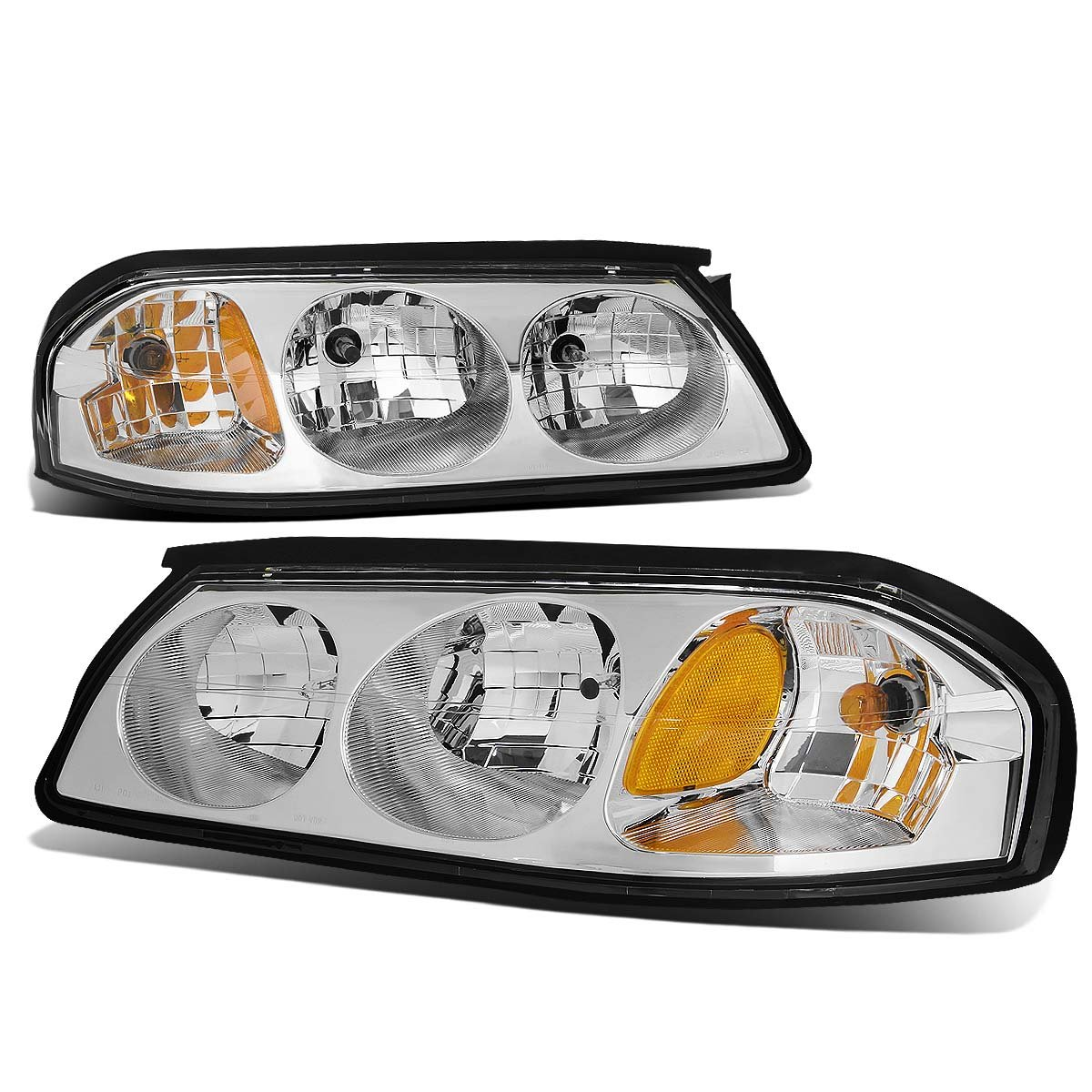 DNA MOTORING HL-OH-FM99-SM-AM Headlight Assembly Driver and Passenger Side