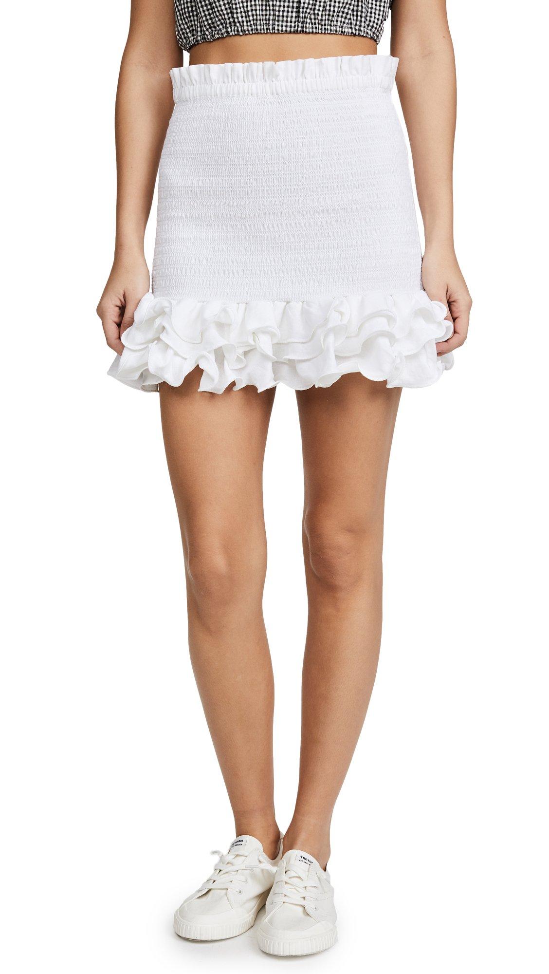 Petersyn Women's Barrett Skirt, White, Small