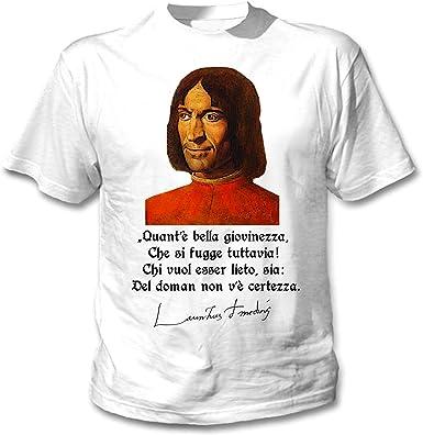 teesquare1st Lorenzo De Medici Lieto SIA Camiseta Blanca para Hombre de Algodon: Amazon.es: Ropa y accesorios