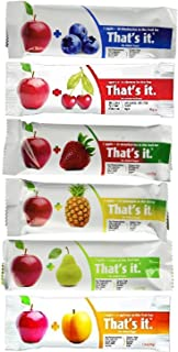 product image for That's It Fruit Bars, 6 Flavors Variety Pack (Pack of 48)