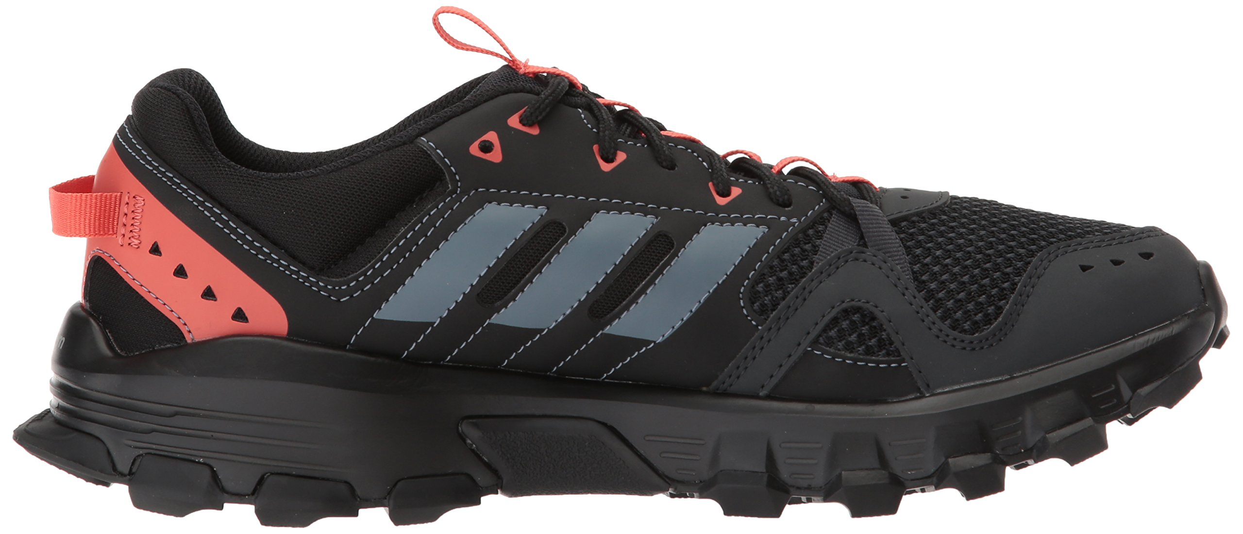 adidas Women's Rockadia w Trail Running Shoe, Carbon/Raw Steel/Trace Scarlet, 6 M US by adidas (Image #7)