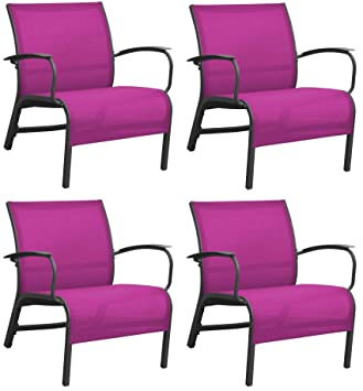Proloisirs Fauteuil Lounge en Aluminium Linea (Lot de 4): Amazon.fr ...