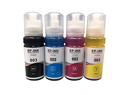 UV INFOTECH Refill Ink for EP 003 Compatible for use with  L3100/L3101/L3110/L3150 Series - 70ML Each Bottle
