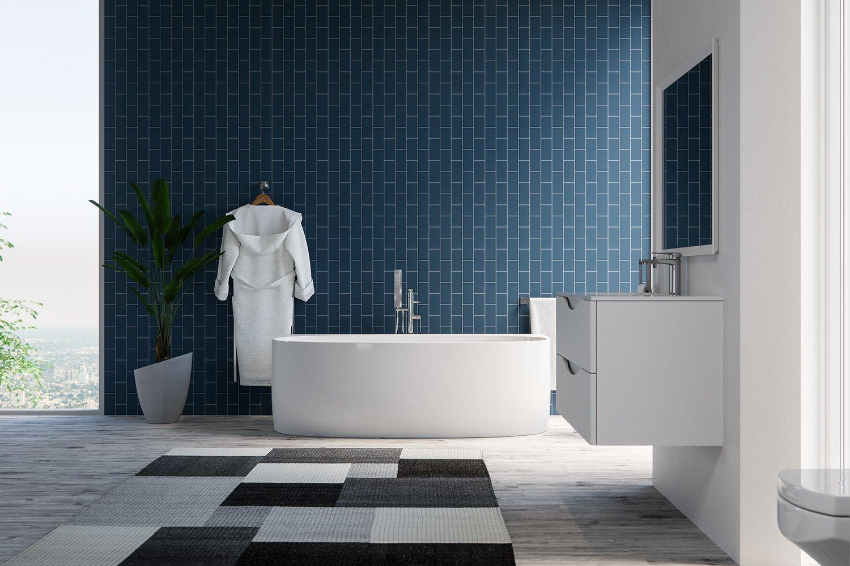 MAYKKE Ocala 68 Inches Modern Unique Specialty Light Acrylic Bathtub ...