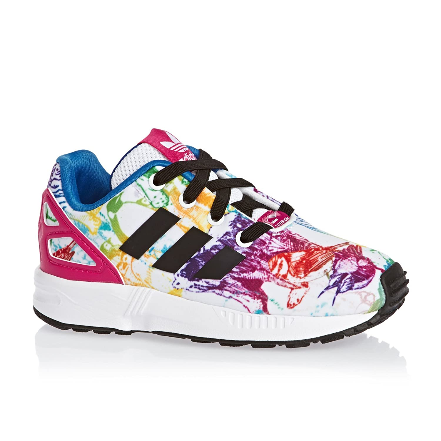 top brands uk cheap sale look out for Adidas originals ZX FLUX EL I - S76314 - Blanc/Multicolore ...