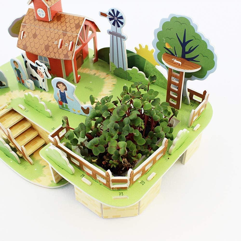 Milly & Flynn- Puzzle & Grow – Construye tu Propio Kit 3D de Granja y jardín, Multicolor (0132.3135.71.Far.OSZ): Amazon.es: Juguetes y juegos