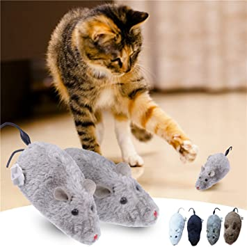 WIDEN ELECTRIC 1pcs mascota ratón de peluche juguetes para gatos color al azar: Amazon.es: Productos para mascotas