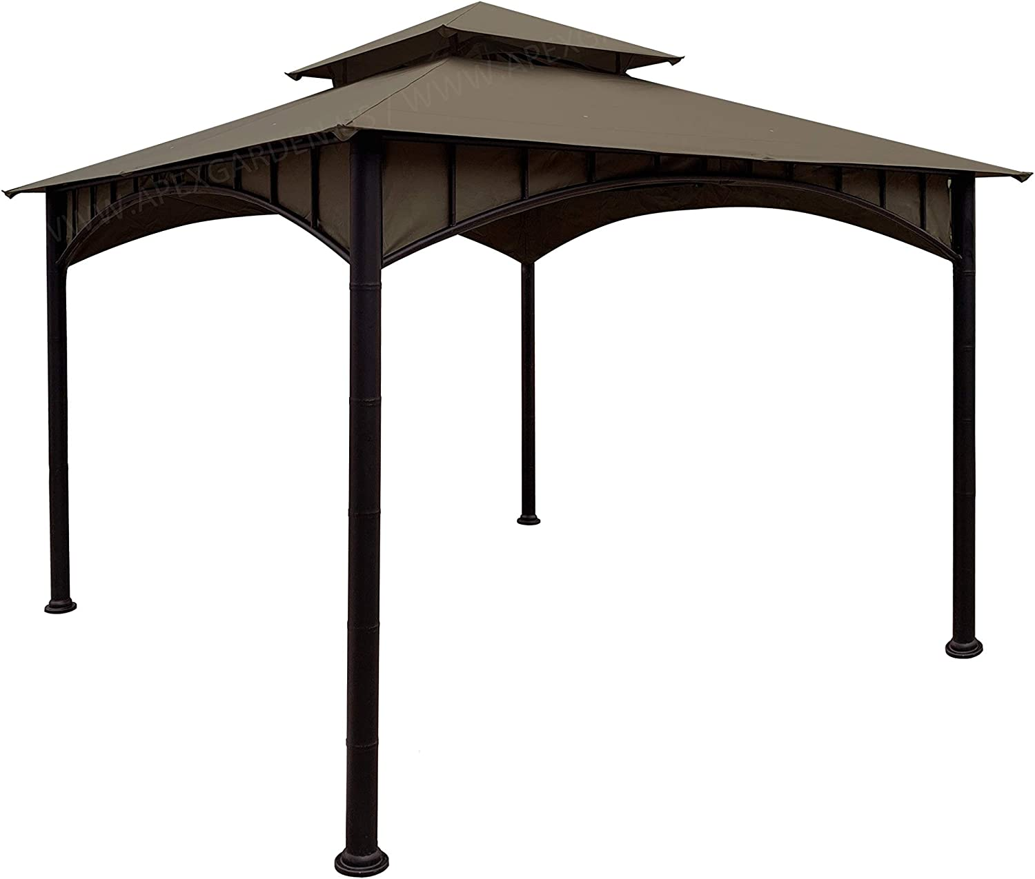 APEX GARDEN Replacement Canopy Top CAN ONLY FIT for Model #D-GZ136PST-N Summer Breeze Soft Top Gazebo (Canopy Top Only) (Tan)