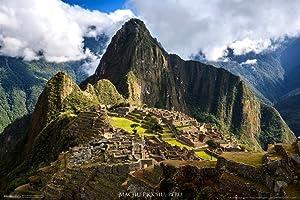 Pyramid America Machu Picchu Inca Site Cusco Region Urubamba Province Machupicchu District Peru Cool Wall Decor Art Print Poster 12x18