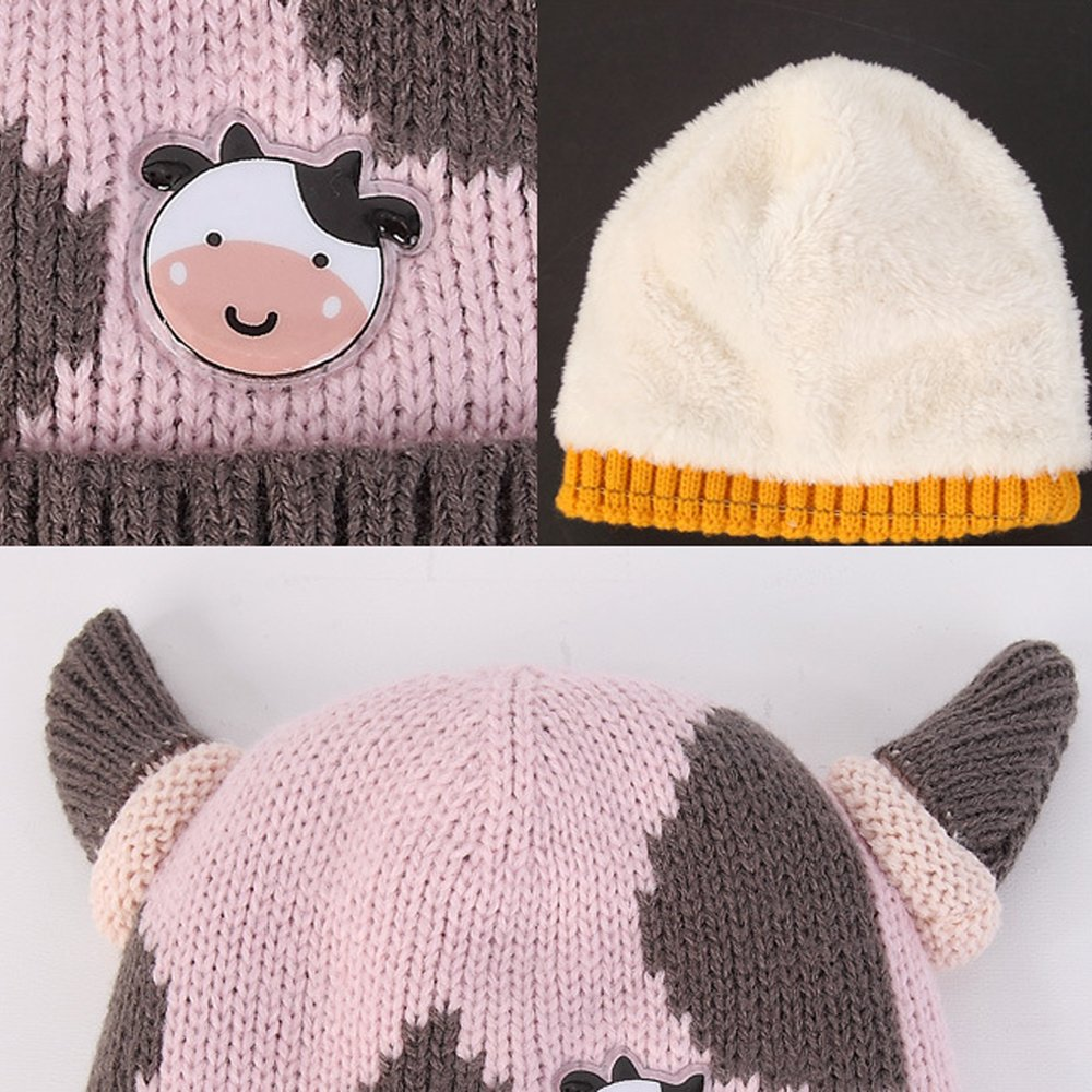 Blue Viking Horns Baby Girls Boys Winter Hat Scarf Earflap Hood Scarves Viking Horns Caps