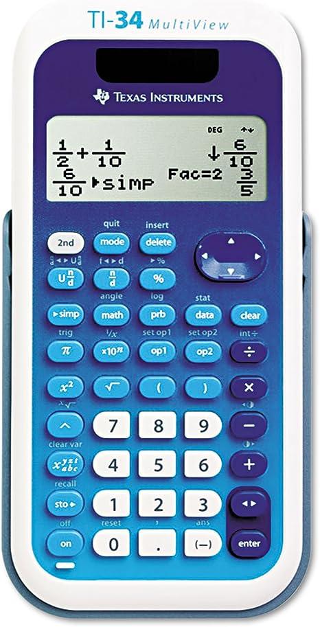 TI-34 MultiView Scientific Calculator