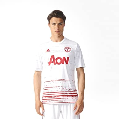 e15c01d8663 Image Unavailable. Image not available for. Color: adidas Men's S96152 Manchester  United Home Pre-Match Jersey ...
