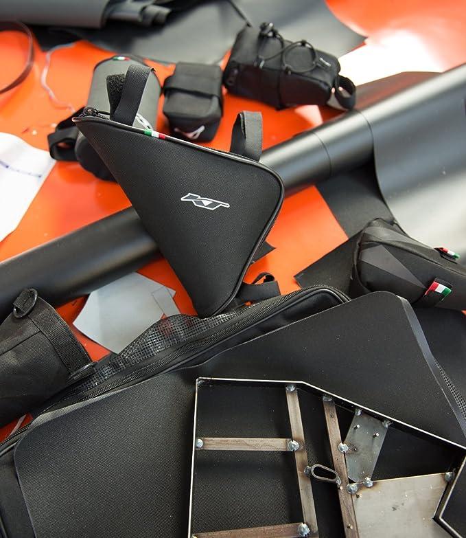 KT Bike Bolsa para sill/ín de Bicicleta de Carreras Alforja Impermeable // Tela con pl/ástica Refuerzo en el Interior 28 Made IN Italy Tec/_8/_N Asiento de Ciclismo