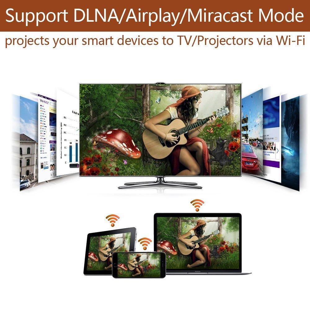 Android phone//Windows//Macbook Miracast Dongle Anycast 2.4G Wifi Pantalla Dongle 1080P HDMI TV Stick Inal/ámbrico Audio /& Video Receptor Adaptador Soporta Miracast Airplay DLNA para iphone //ipad