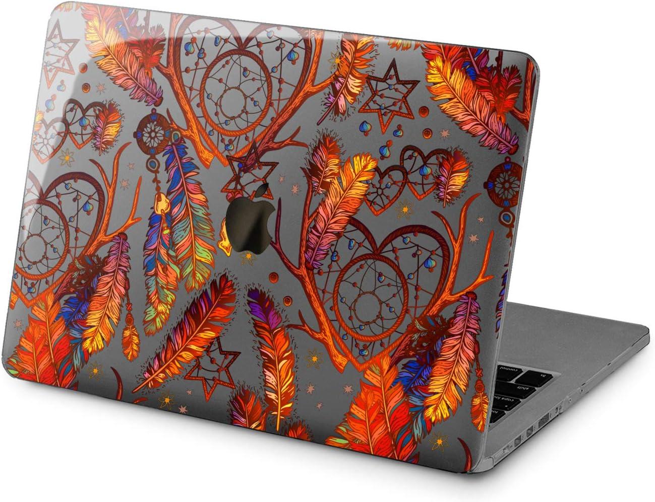 Cavka Hard Shell Case for Apple MacBook Pro 13 2019 15 2018 Air 13 2020 Retina 2015 Mac 11 Mac 12 Look Foil Design Mandala Silver Protective Print Plastic Simple Laptop Bohemian Texture Cover