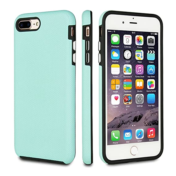 brand new 536d6 f14c5 FRIFUN Compatible with iPhone 7 Plus Case iPhone 8 Plus Case,Dual Guard  Protective Shock Absorbing Case Scratch-Resistant Rugged Drop Protection  Cover ...