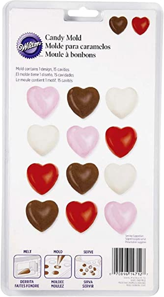 CUTE PLAIN HEART LOLLY Chocolate Candy molds customize your own decorate hearts