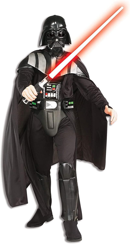 Deluxe Darth Vader Star Wars Halloween Fancy Dress Costume Outfit Mask Helmet