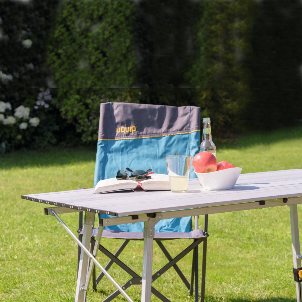 "Uquip Variety L Aluminium Table for Camping or Garden - Adjustable in Height - Large: 47"" x 28"""