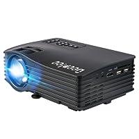 deeplee dp36LED LCD mini proyector, 304.8cm cine en casa Proyector de vídeo con USB tarjeta SD HDMI AV para Home Cinema Video Game Patio Noche de Cine apoyo pc portátil PS3/PS4Xbox Wii Proyector, color negro