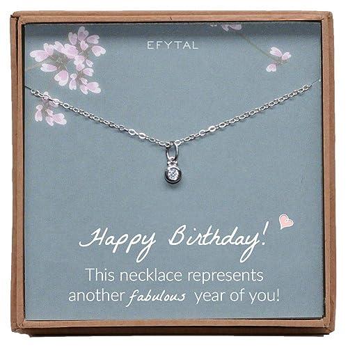 Amazon EFYTAL Mom Birthday Gifts Women Sterling Silver Small