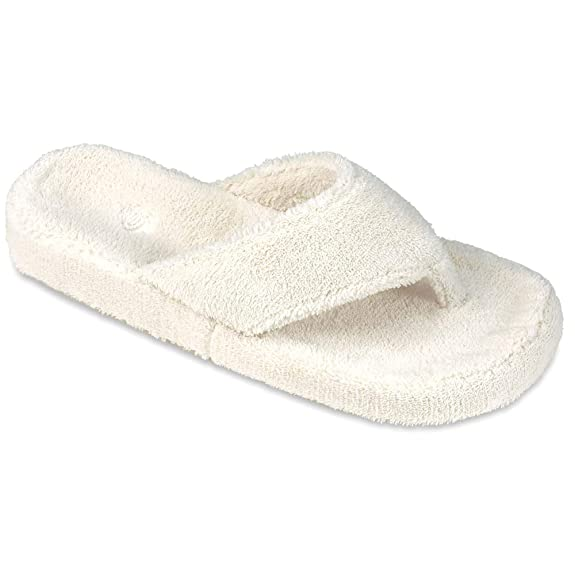ACORN Women's Spa Thong, Natural, Small / 5-6 best women's slippers