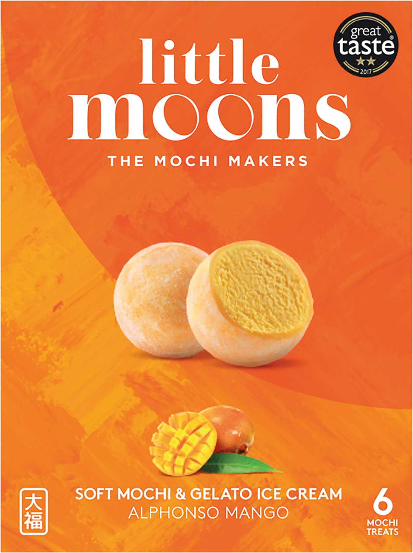 Little Moons Alphonso Mango Mochi Ice Cream, 6 x 32g (Frozen)