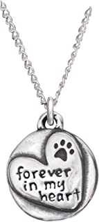 product image for Rockin Doggie Sterling Silver Necklace, Forever in My Heart