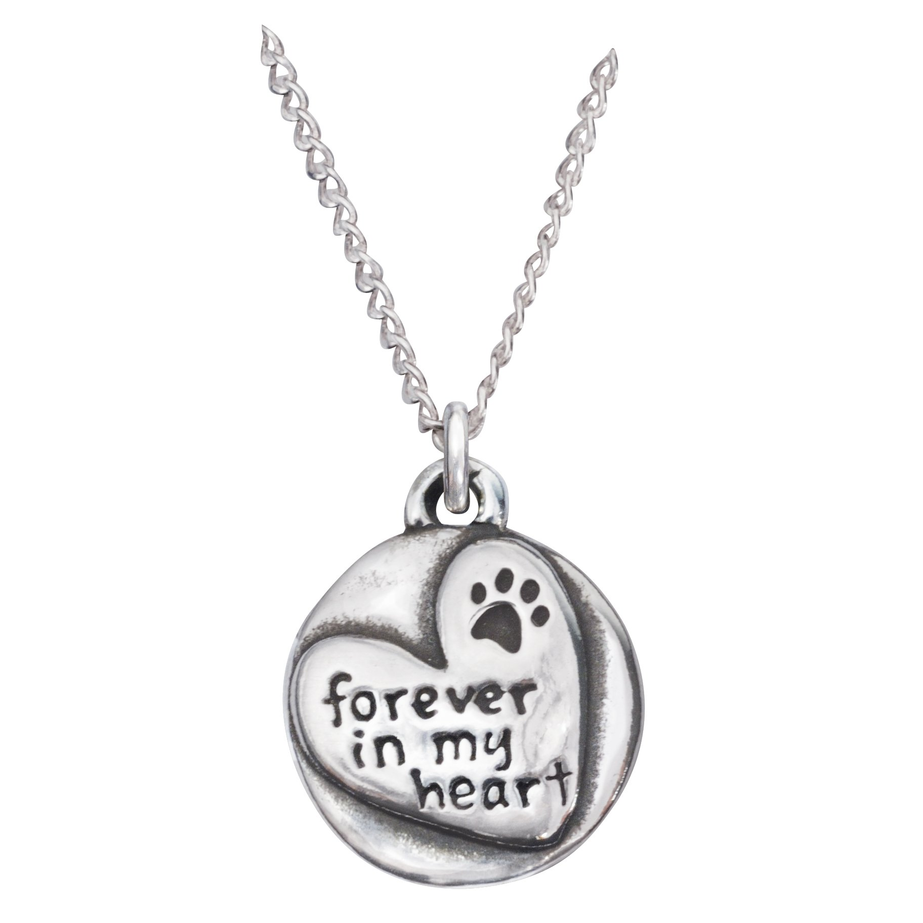 Rockin Doggie Sterling Silver Necklace, Forever in My Heart