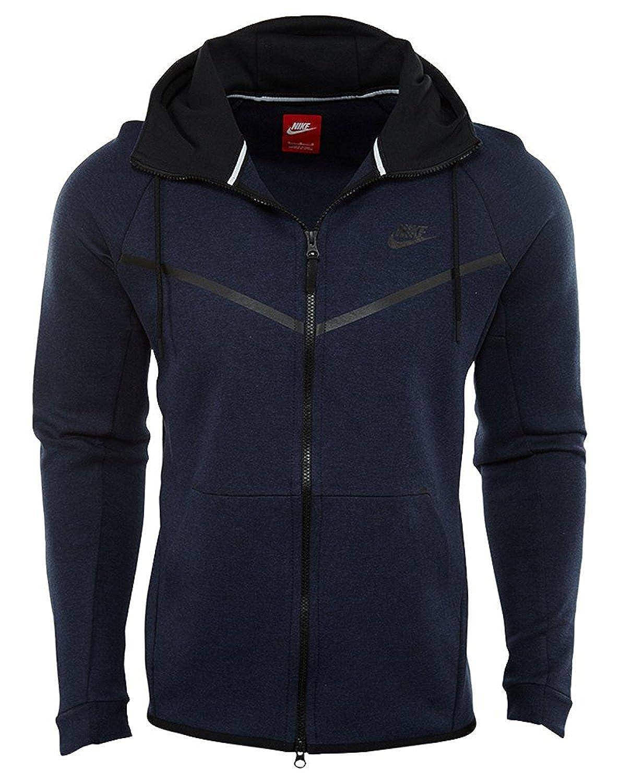 328c92ccc108 Nike Men s Sportswear Tech Fleece Windrunner Hoodie (805144-473) - Obsidian  Heather Black at Amazon Men s Clothing store