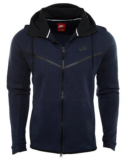 3725bf8869f3d Men's Nike Sportswear Tech Fleece Windrunner Hoodie (805144-473) - OBSIDIAN  HEATHER/