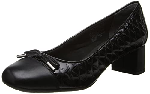 8462312170b Rockport Women s Total Motion 45 Square Quilted Cap Pump Black Leather Pump  9.5 W (C