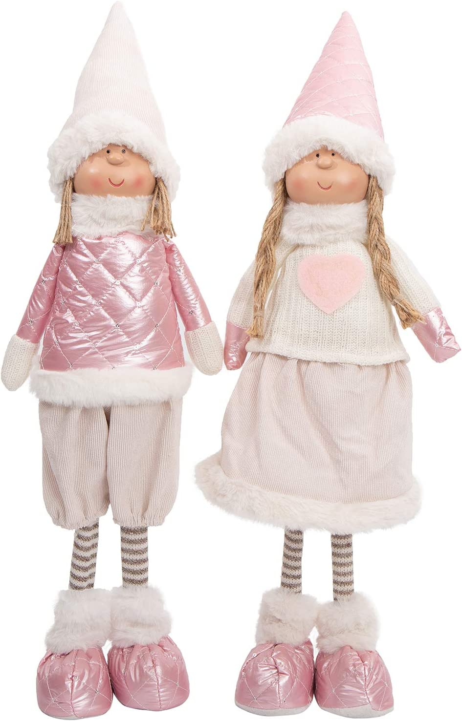 Handmade Christmas Gnomes Decoration Valentine's Gifts Gnome Boy and Girl Figurines Home Decor Xmas Dolls Decoration Holiday Presents (2 Pack)