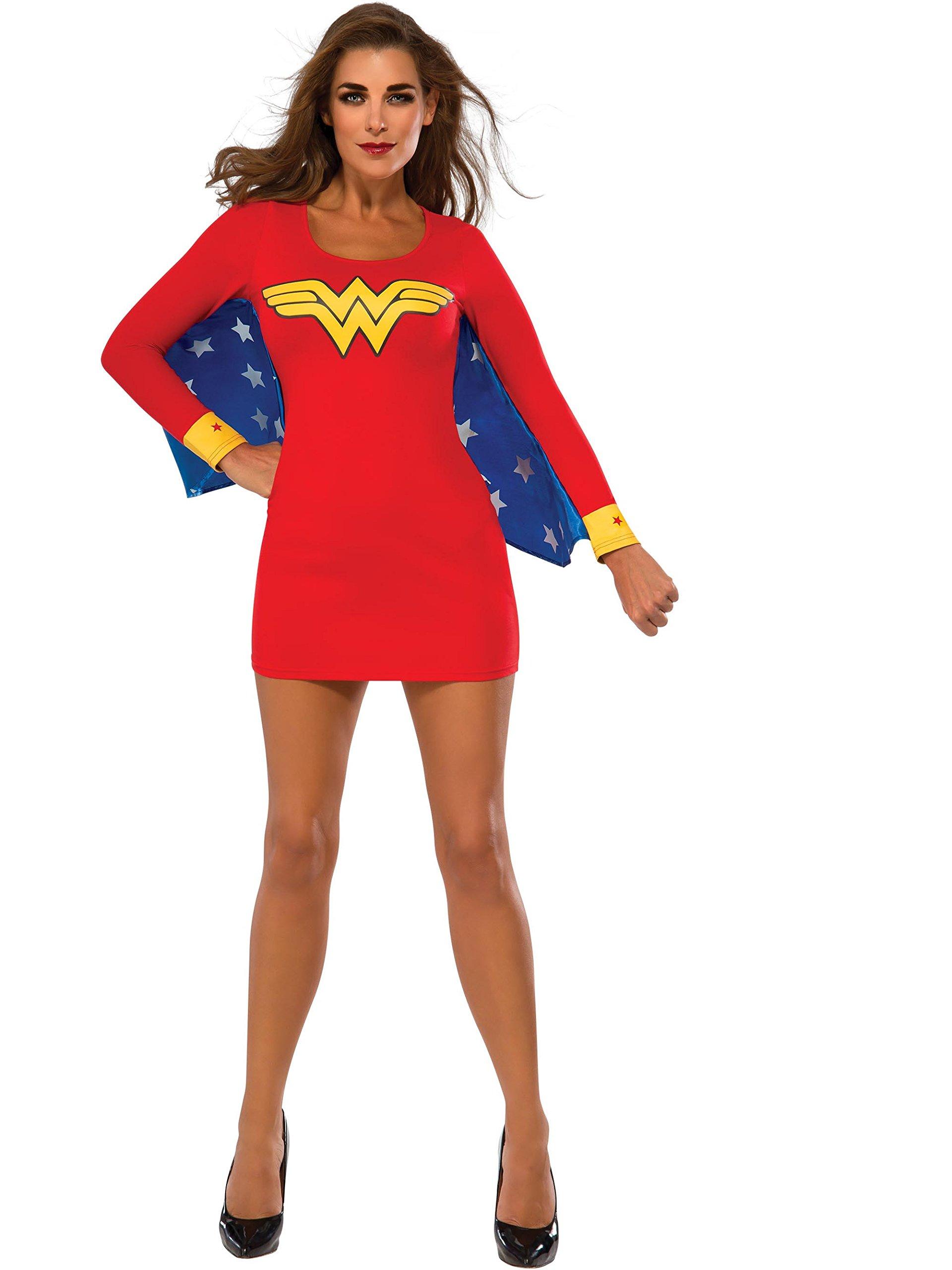 Rubie's Women's DC Superheroes Wonder Woman Cape Dress, Multi, Medium