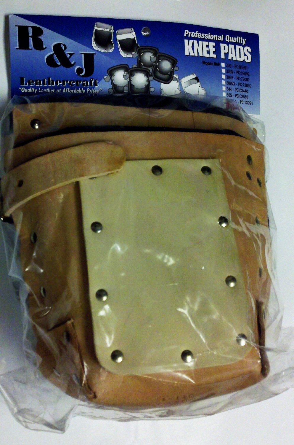 R&J Leathercraft, 311-1, Extra Heavy Duty Professional Knee Pads w/ Neolite Sole, 1'' wide Leather Strap, Made in USA*****