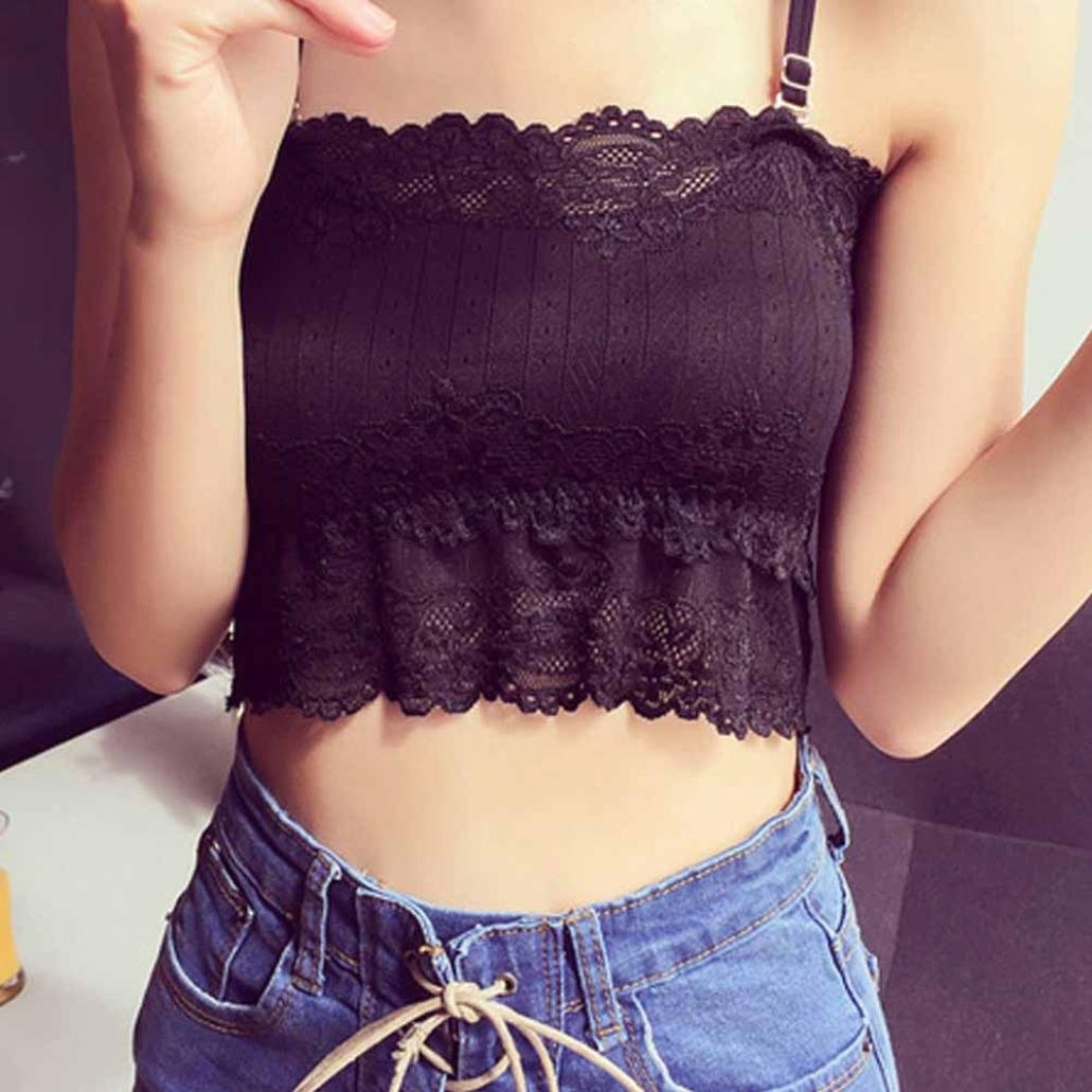 Amazon.com: kaifongfu Women Tops, Prevent Exposed Wrapped Chest Bowknot Chest Pad (Free Size, Black): Clothing