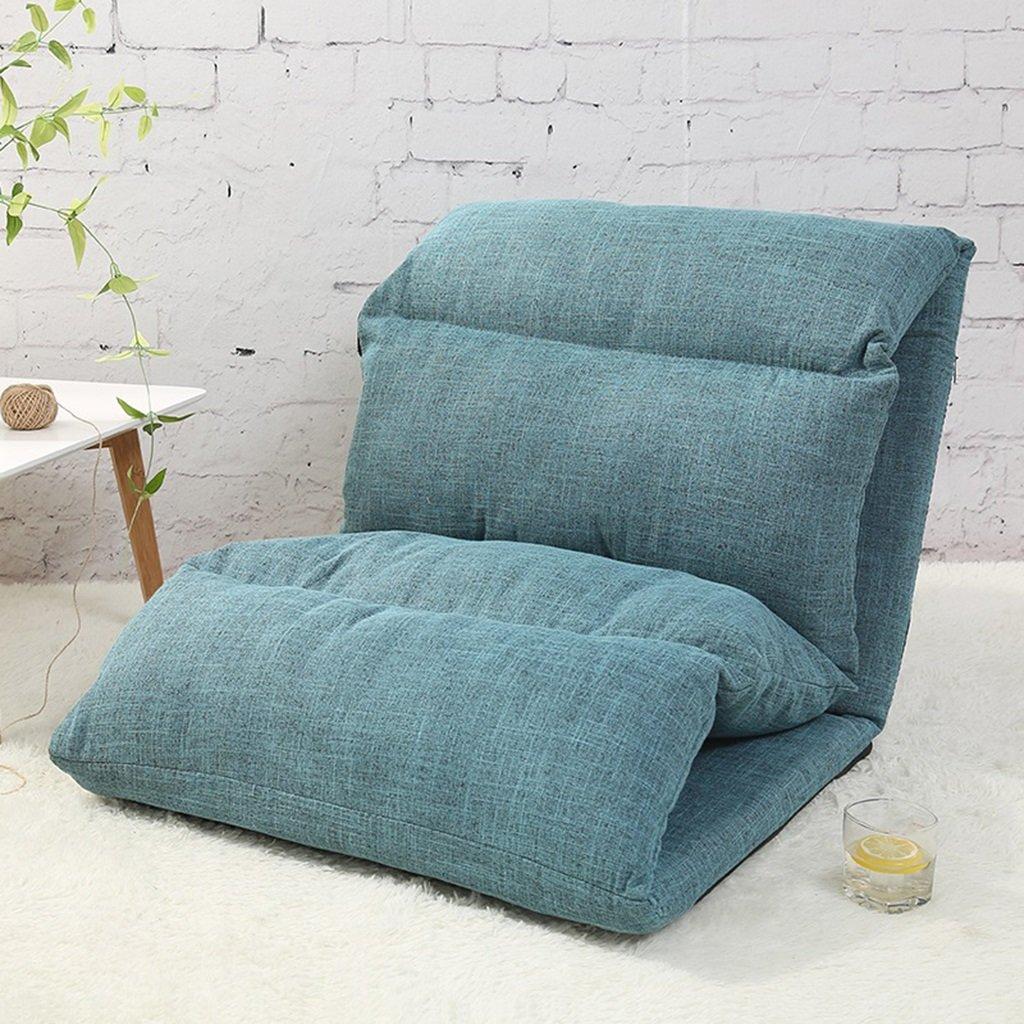 Canapé paresseux pouf individuel pliable lit canapé chaise chambre petit canapé coussin ( Couleur : Bleu )