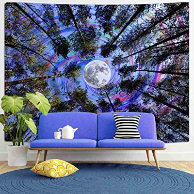 Forest Tree Hippie Tapestry Room Wall Hanging Psychedlic Throw Tapestries Decor