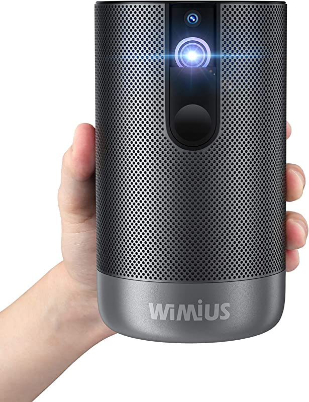 Projector, WiMiUS Q1 Mini Android TV Projector (2G+16G), 500 ANSI Lumens Native 1080p Projector with 5G Wi-Fi, Bluetooth, 3D, 5,000+ Apps, Battery DLP Projector for Home Entertainment Office Use