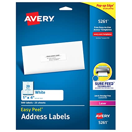 Amazon Avery Mailing Address Labels Laser Printers 500