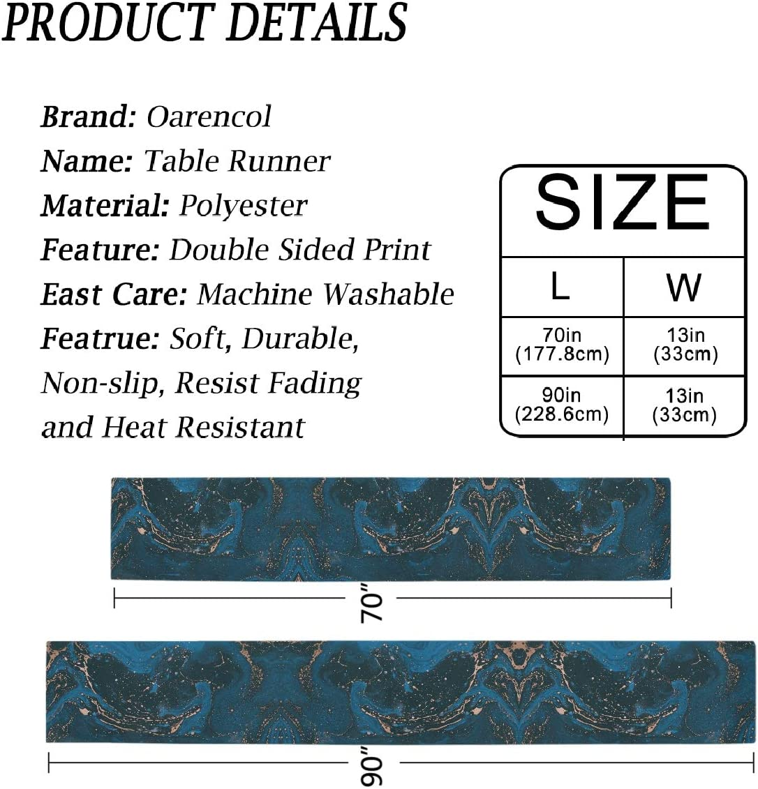 Blue Bronze Art Watercolor Polyester Rectangle Table Cloth for ...
