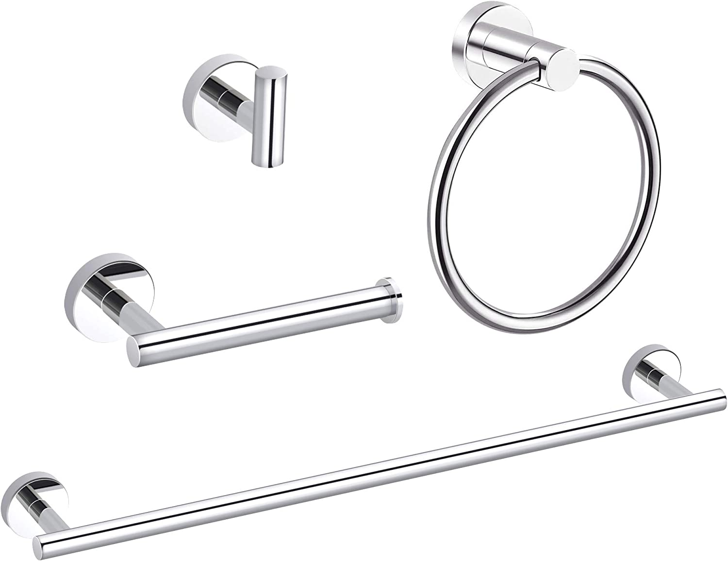 MARMOLUX ACC 12 Inches Hand Towel Holder Bathroom Hardware Chrome Towel Bar Towel Rack Towel Hanger Stainless Steel Wall Mount Bathroom Accessories Polished Chrome