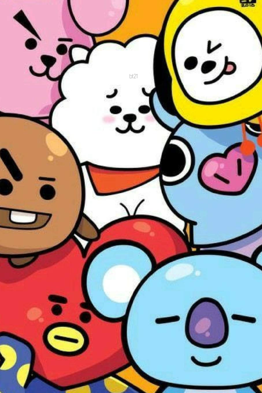 KPOP CUTE BT21 BTS CHARACTER Notebook FOR ARMYs And KNETz  College Ruled Composition School And Personal Journal 6x9in For Girls Students And Fans
