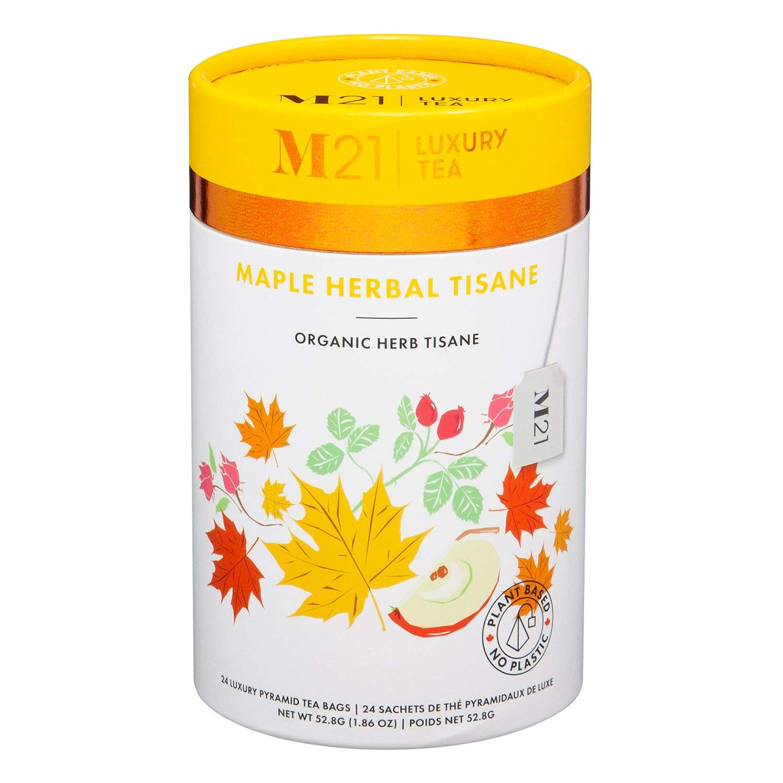 Metropolitan Tea M21 Luxury Organic Maple Herbal Tisane 24 Pyramid Bags
